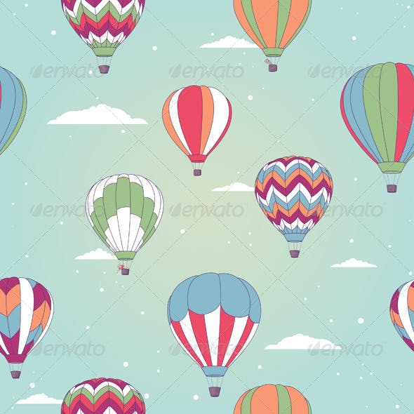 Retro Hot Air Balloons