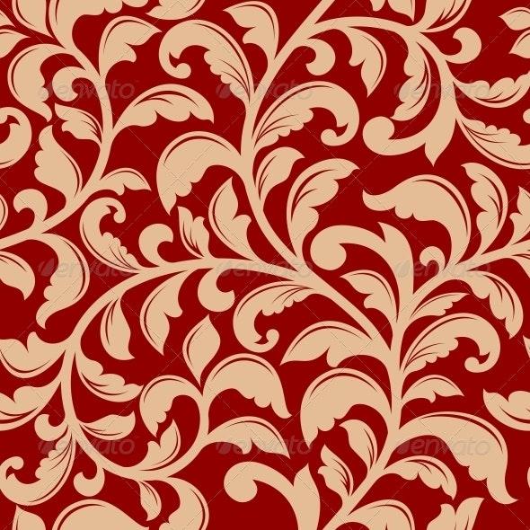 Seamless Pattern with Decorative Flourishes - Patterns Decorative