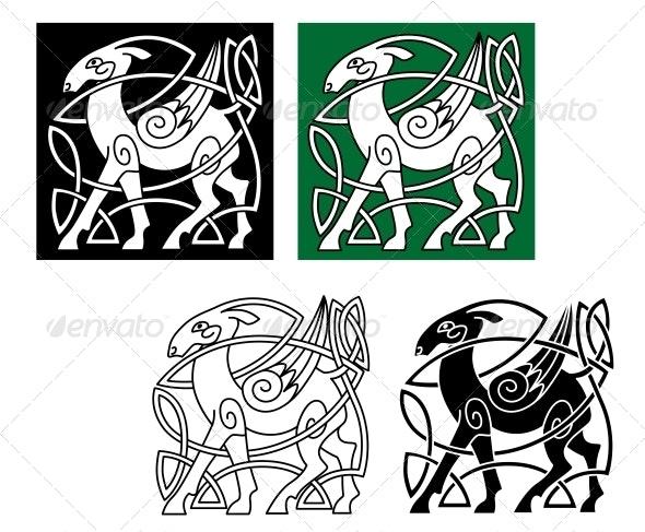 Celtic Deer - Tattoos Vectors