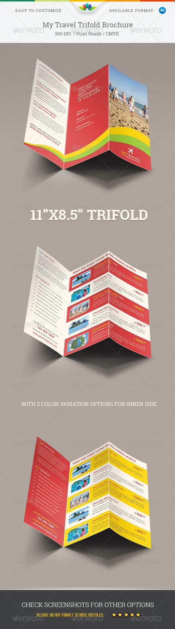 My Travel Trifold Brochure - Corporate Brochures