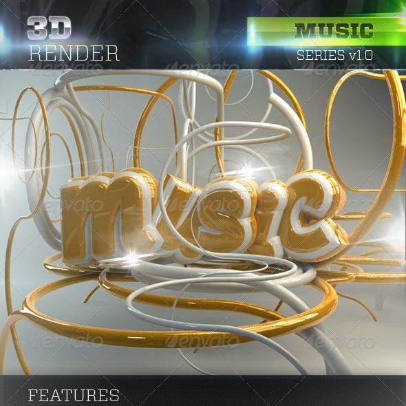 3D Music Text