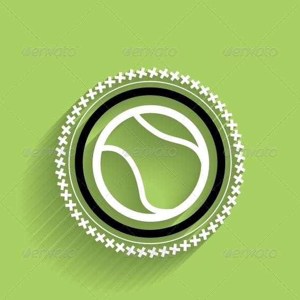 Modern Tennis Ball Icon