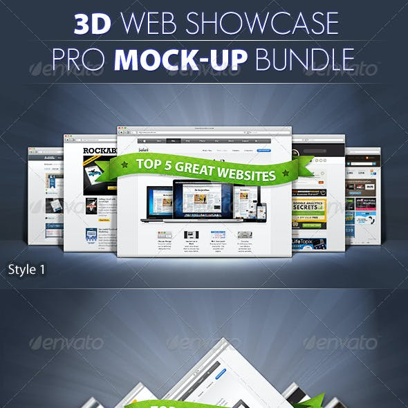 PRO 3d Web Showcase Mock-ups