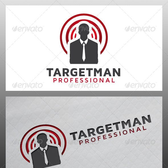 Target Man Logo Template