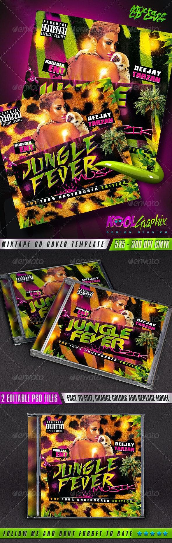 Jungle Fever - Mixtape CD Cover - CD & DVD Artwork Print Templates
