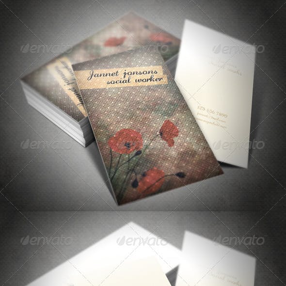 Chinise Paper  design Business Card