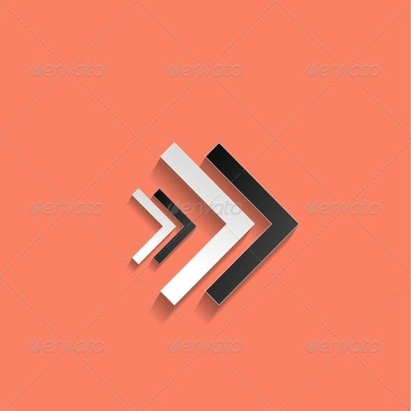 Vector Arrow Flat Icon