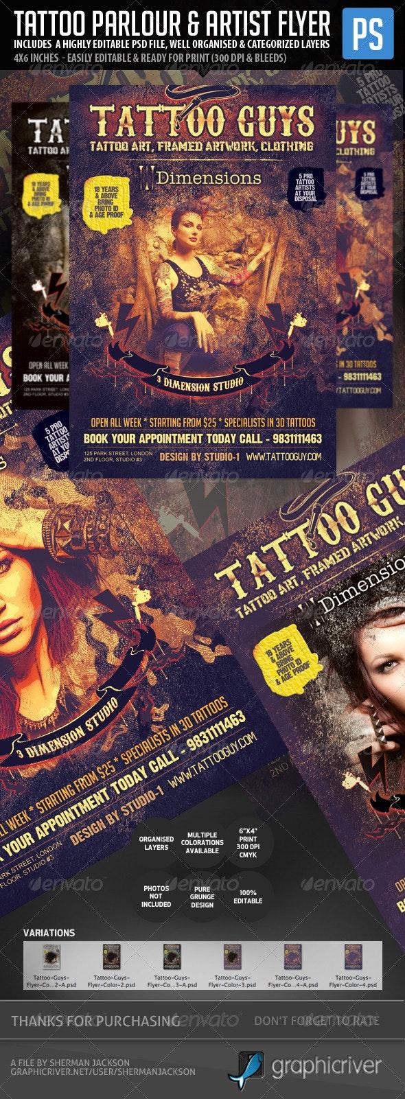 Tattoo Artist & Tattoo Parlour Flyer - Miscellaneous Events