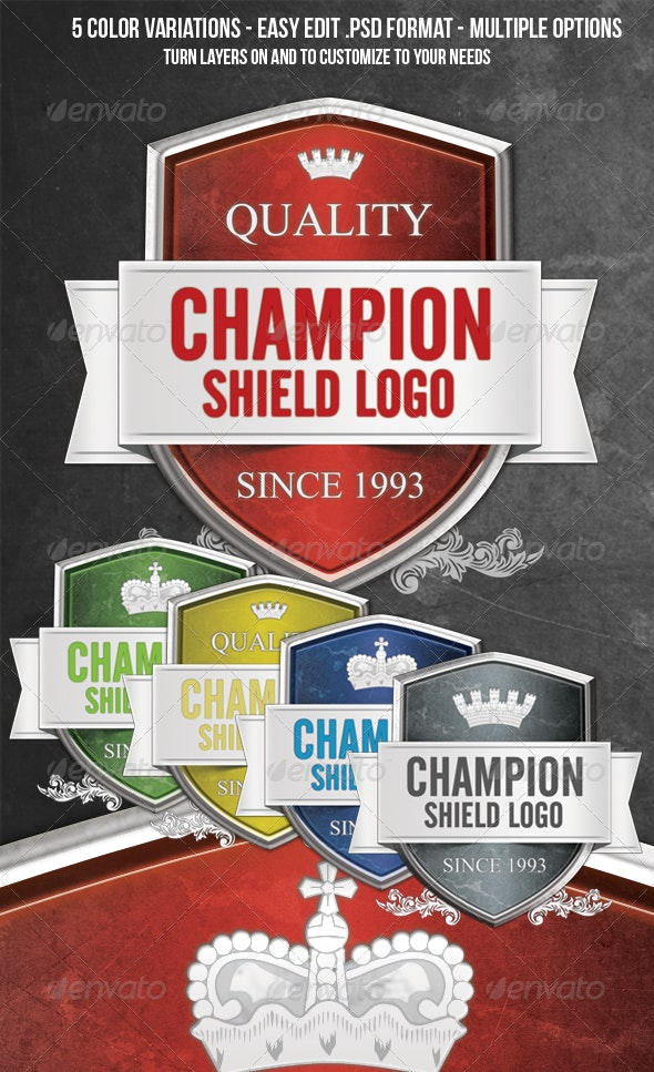 Shield Crest Badge Logo - Miscellaneous Backgrounds
