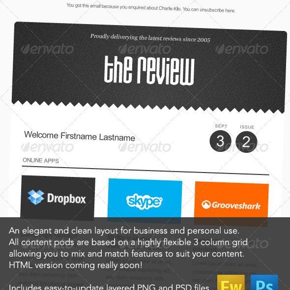 'The Review' E-newsletter Design