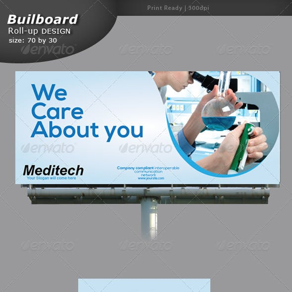 Medical Billboard and Roll-up Banner