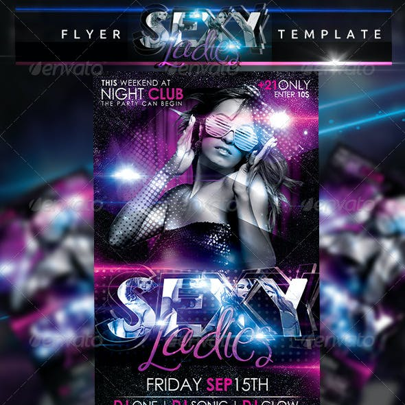 Sexy Ladies Flyer Template