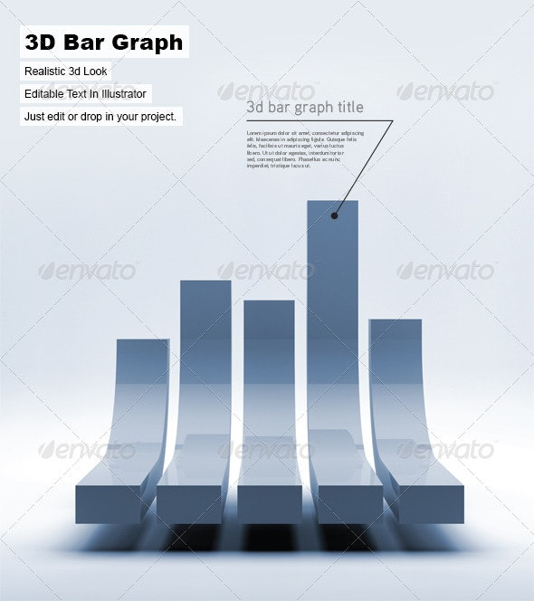 3D Bar Graph - 3D Backgrounds