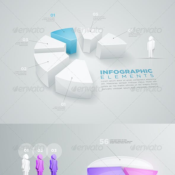 Pie Chart Infographic Collection