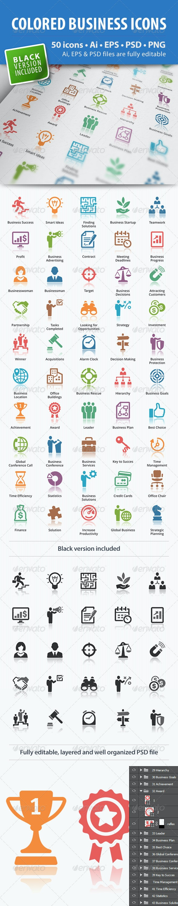 Business Icons - Colored Series - Business Icons