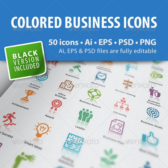 Business Icons - Colored Series