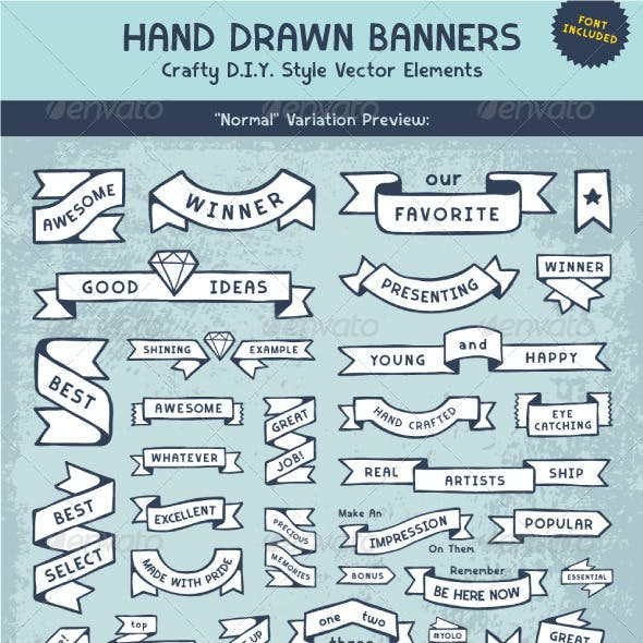 Hand Drawn Banner Elements