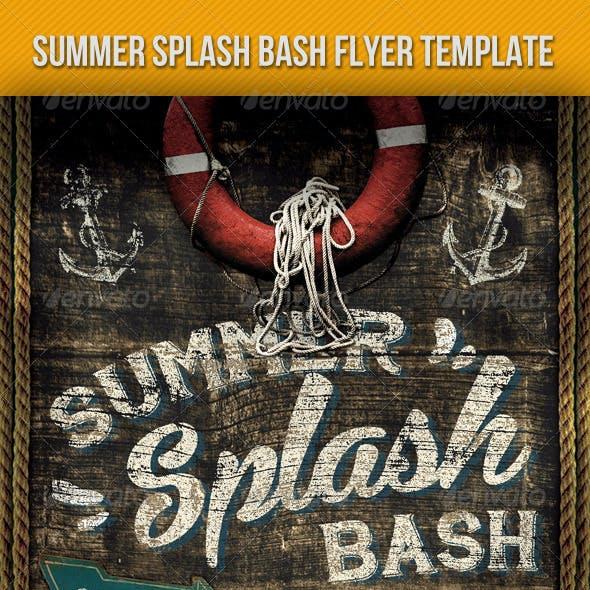 Summer Splash Bash Vintage Flyer