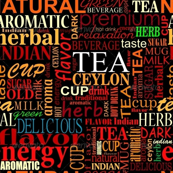 Seamless Background with Tea Tags - Backgrounds Decorative