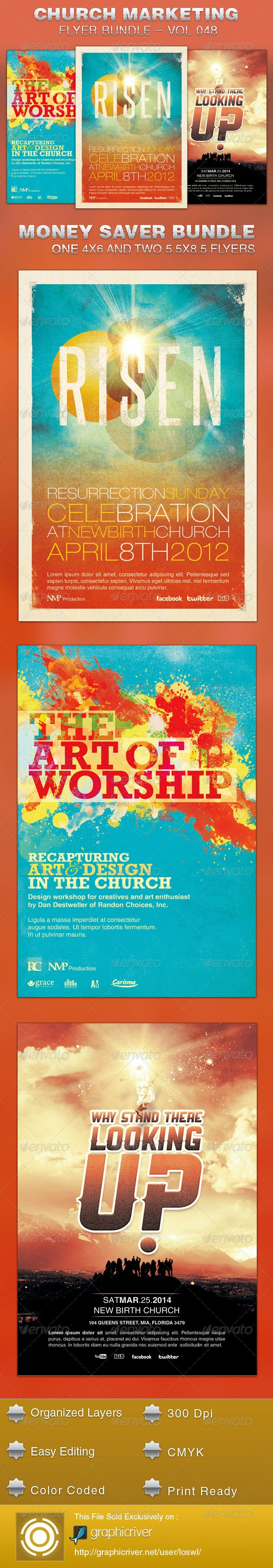 Church Marketing Flyer Template Bundle Vol 048 - Church Flyers
