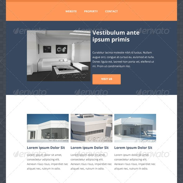Prop - Flat Style Newsletter Layout