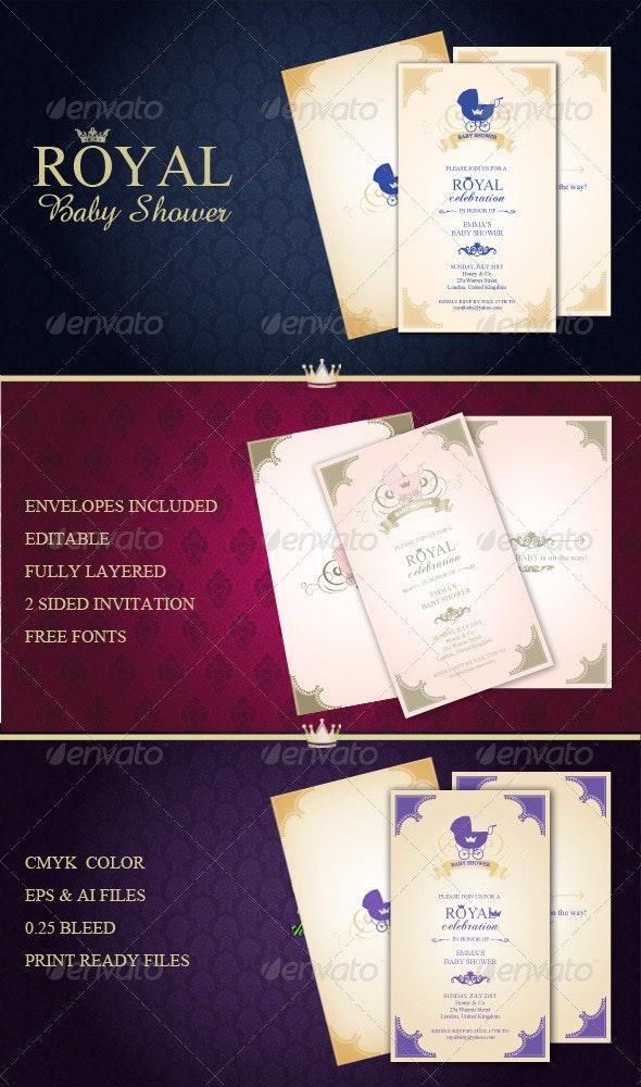 Royal Baby Shower Invitation - Invitations Cards & Invites
