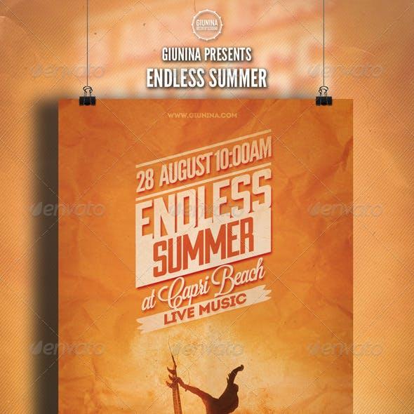 Endless Summer Flyer/Poster