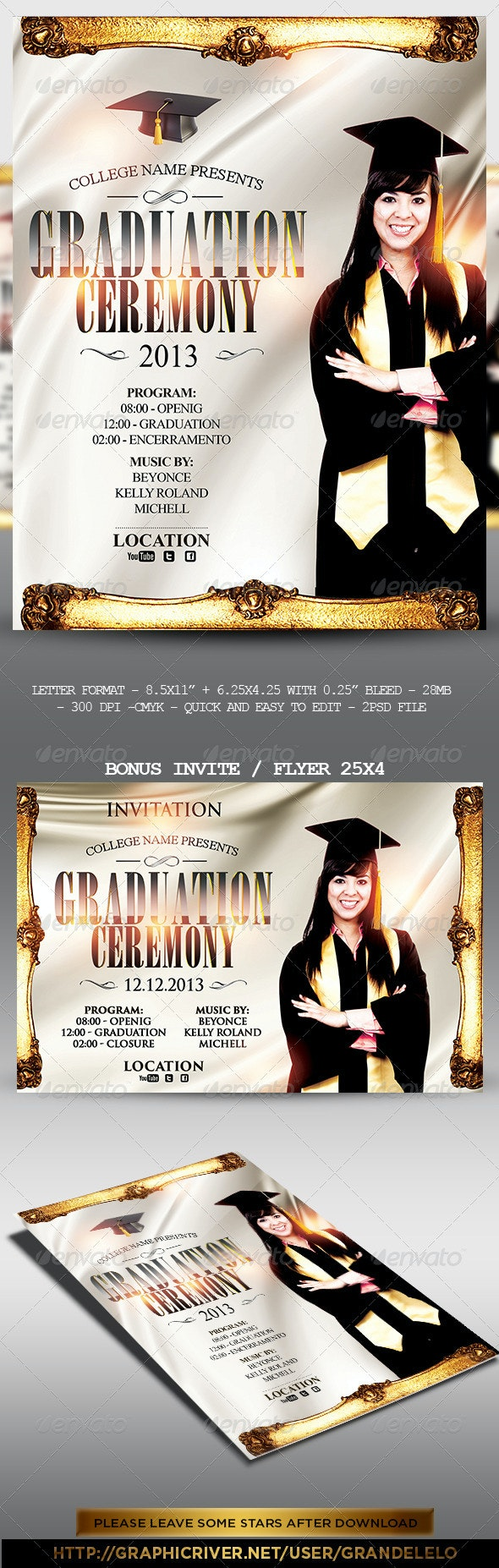 Graduation Event Poster - Clubs & Parties Events