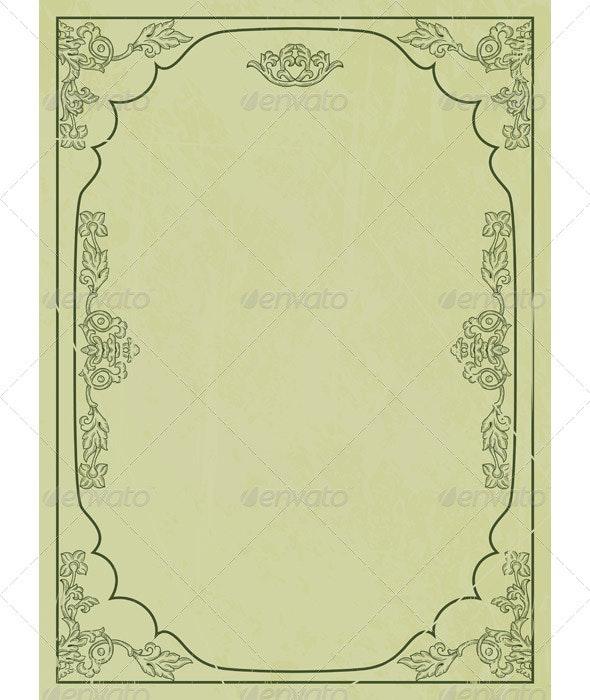 Vintage Frame - Patterns Decorative