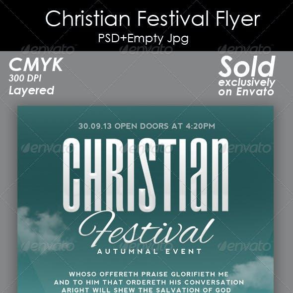 Christian Festival Flyer