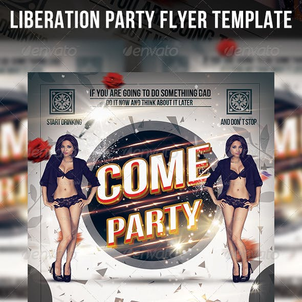 Liberation Party Flyer Template