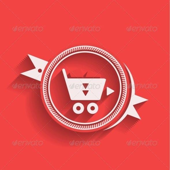 Shopping Icon Flat Modern Design