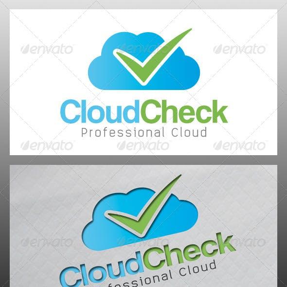 Download Cloud Tick Check Mark Logo Template