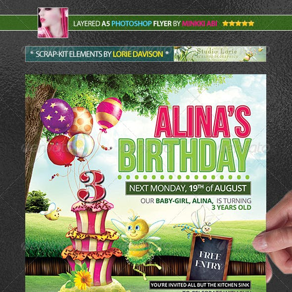 Kids Birthday Party Poster/Flyer