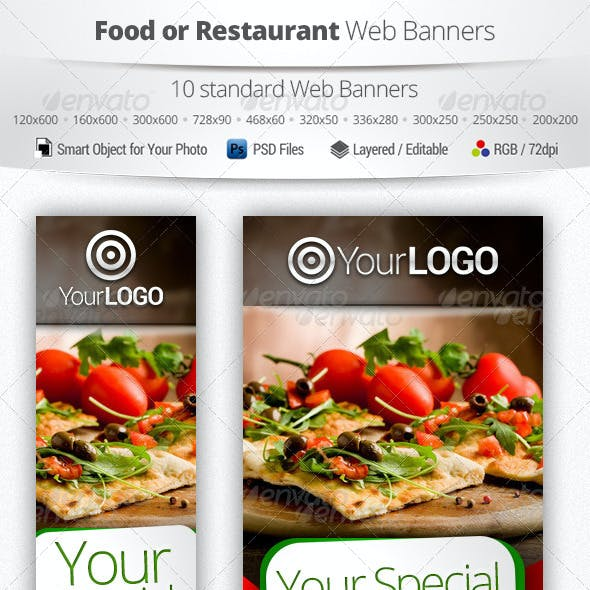 Food or Restaurant Web Banners