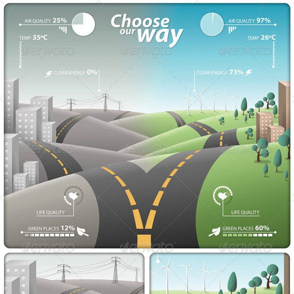 Infographic Choose our Way PSD