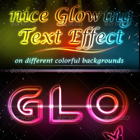 Glowing Light Text Effect V.2