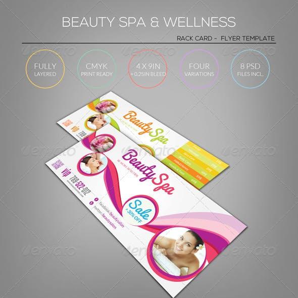 Beauty Spa & Wellness - Rack Card Template