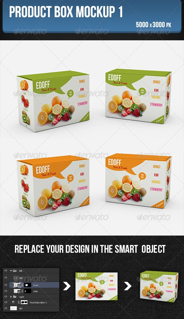 Product Box Mockup1 - Product Mock-Ups Graphics