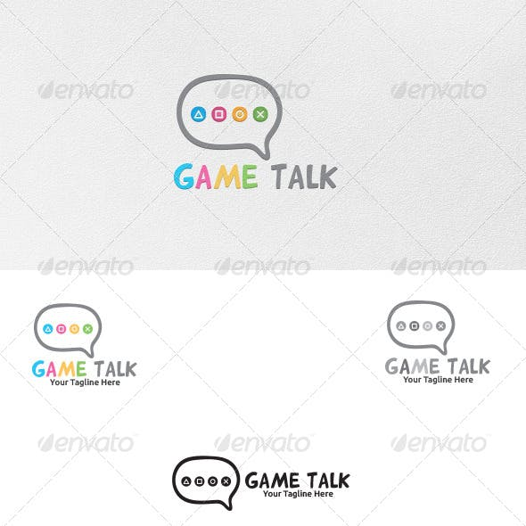 Game Talk - Logo Template