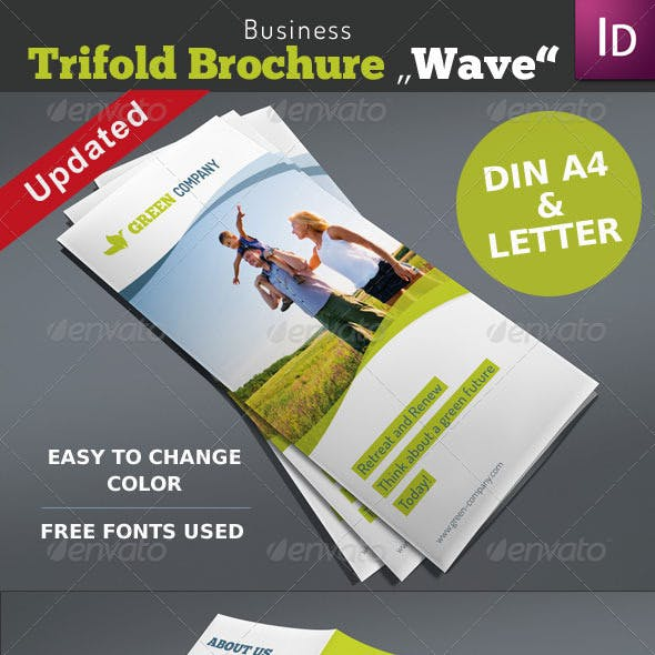Trifold Brochure Wave Vol. 1