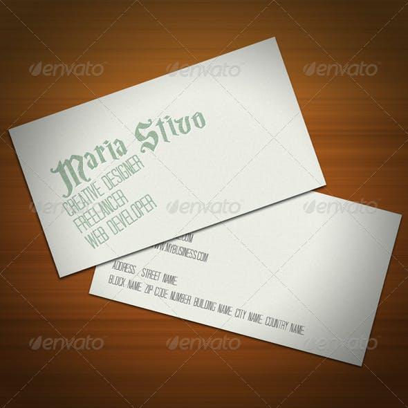 Ultra Vintage Business Card