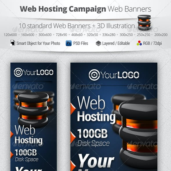 Web Hosting Campaign Web Banners