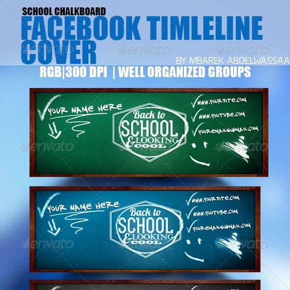 School Chalkboard Facebook Timeline Cover Template