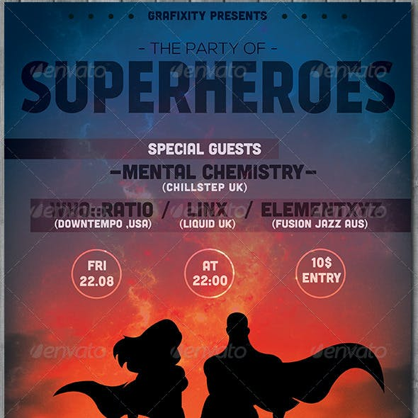 SuperHero - Themed Party Flyer/Poster