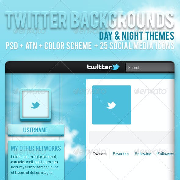 Twitter Backgrounds - Day & Night