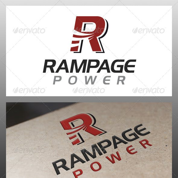 Download Rampage Letter R Logo Template