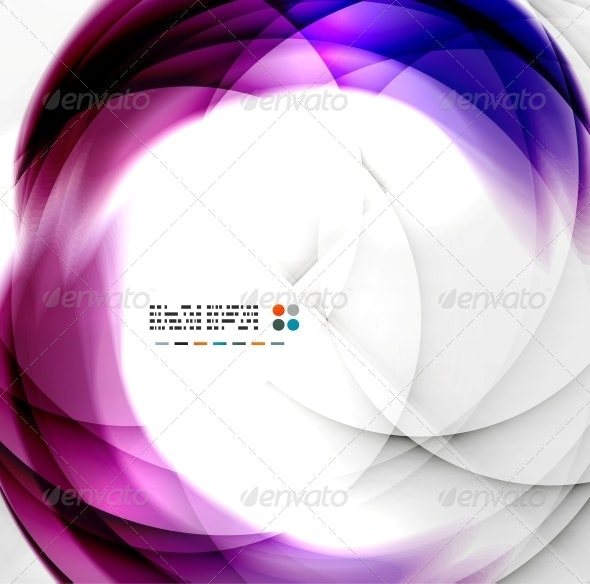 Abstract Purple Swirl Design - Backgrounds Business