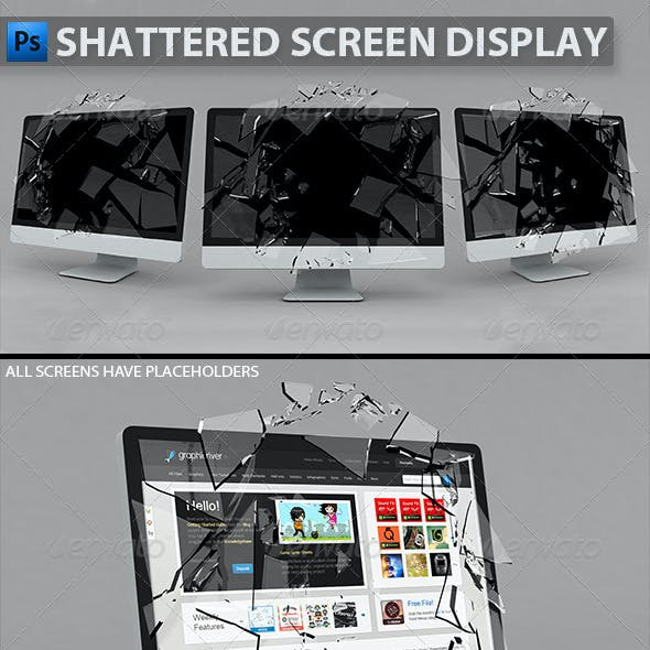Shattered Screen Display
