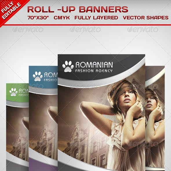 Multiporpose Glamorous Roll Up Banners